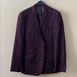 Men's Red Camo Andrew Fezza Dress Blazer size 44r